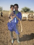26. Young Father and child with his lifestraw