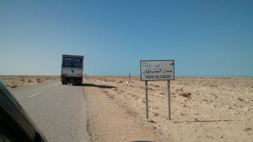 The truck enters mauritania